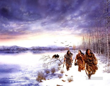 dreams people of the lakes Fantastic Oil Paintings